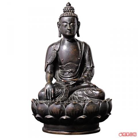明代釋迦銅像