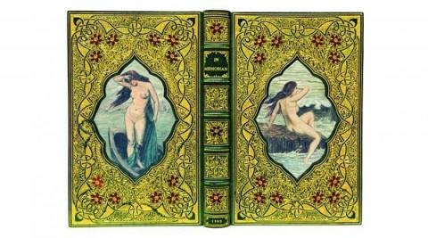 鑲嵌裸女裝幀的丁尼生《悼念》