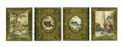 一九二○年代利威耶裝幀海倫畫封面沃爾頓Izaak Walton《垂釣大全》The Compleat Angler