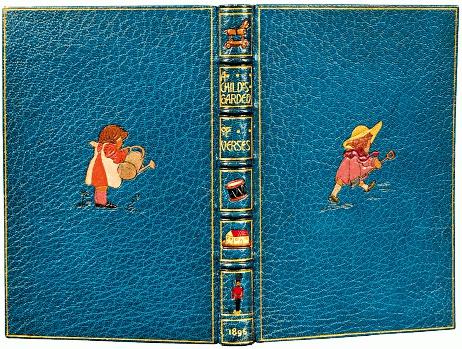 一八九六年《兒童詩園》皮畫裝潢本